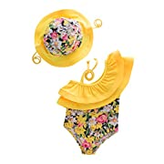 May's Kids Girl Onepiece 2 Pieces Swimwear Swimming Bathing Swimsuit