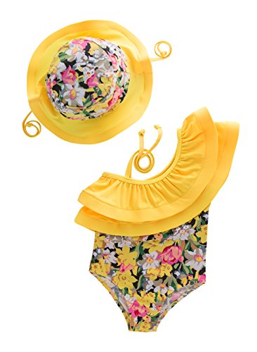 Ruffle One Infant Piece Swimsuit (May's KidsGirl Onepiece 2 Pieces Swimwear Swimming Bathing Swimsuit)