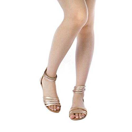 Sandals Gold DREAM JUULY Flat PAIRS Women's wrqRpXIrZ