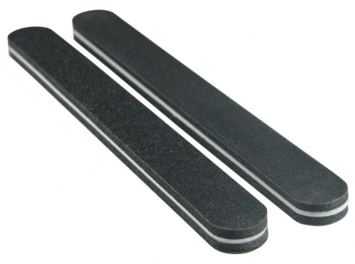 Premium Black Oreo 100/180 Washable Nail File 50 Pack