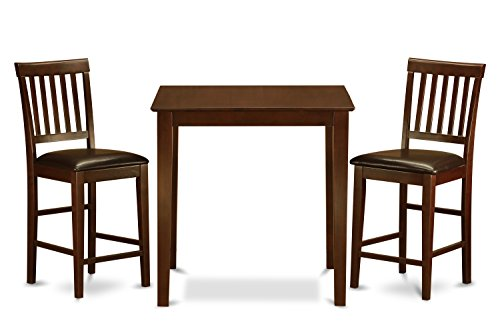 VERN3-MAH-LC 3-Piece Counter Height Dining Table Set ()