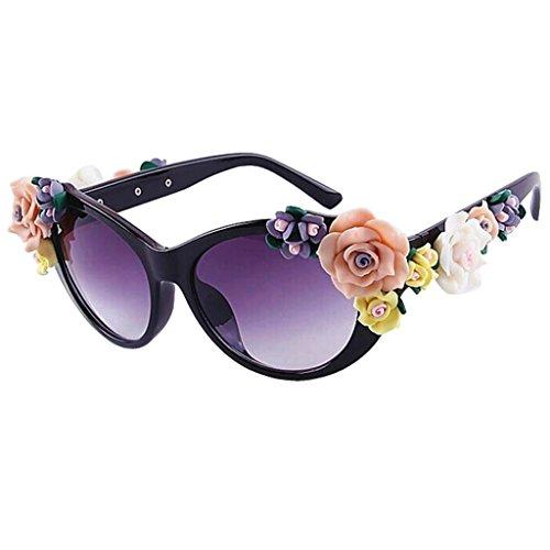Flores Mujeres de Gafas gafas 6 sol Color Barroco de QQB de sol Rosas Moda Gafas sol 1 X521 Gafas CqwEYnAx