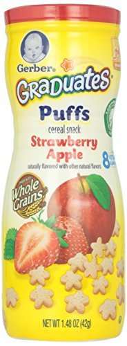 Gerber Graduates Puffs Cereal Snack Variety Pack - Blueberry, Strawberry-Apple, Sweet Potato - 1.48 oz Each by Gerber