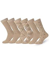 2ad250592029 Solid & Pattern Men's Socks Combed Cotton Dress Socks