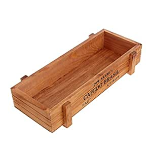Macetero de madera, de JAGETRADE, estilo vintage, rectangular ...