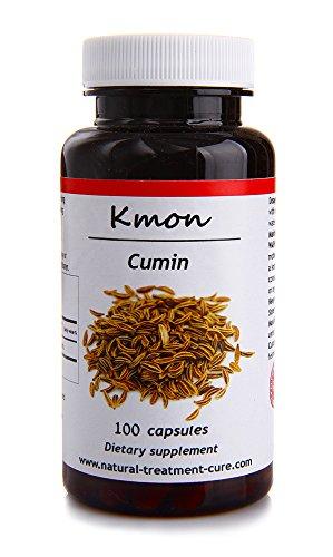 Hekma Center Organic Cumin Seed - Cuminum Cyminum - 100 Capsules Rich in Iron Vitamin C and E for Digestive Health - Vegan