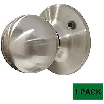 Probrico 1 Pcs Satin Nickel Dummy Door Handles Round Shape
