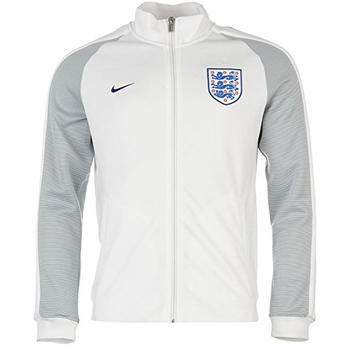 Track Jacket Authentic (Nike N98 England Authentic Track Soccer Jacket (Small) White)