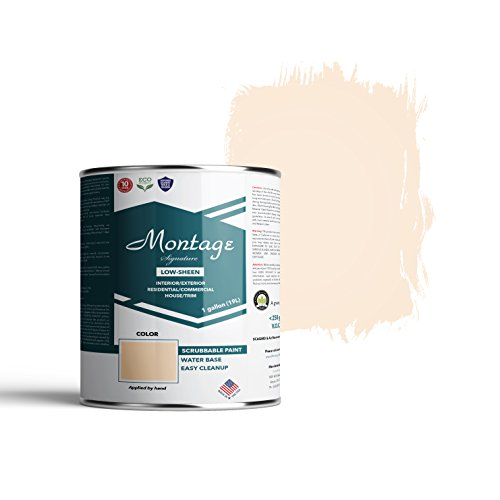 Montage Signature Interior/Exterior Eco-Friendly Paint, Navajo White - Low Sheen, 1 Gallon
