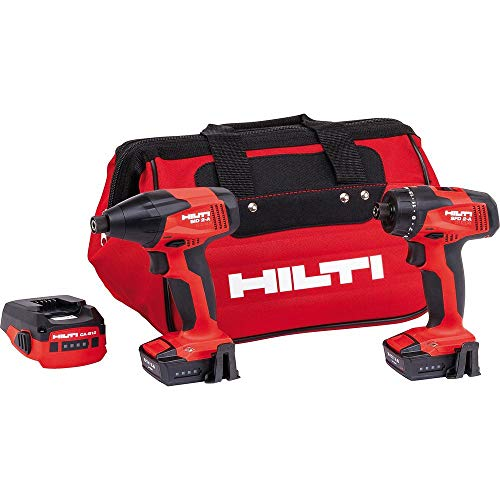 12-Volt Lithium-Ion Cordless Rotary Impact Driver/Drill Driver Combo Kit and CA-B12 Adaptor (2-Tool) (Hilti Tool Kit)