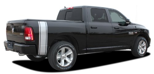 - RAM RUMBLE STRIPES : 2009-2018 Dodge Ram Rear Truck Bed Panel Striping Vinyl Graphic Decal Stripes (Fits ALL MODELS) (Color-3M 41 Azure Blue Metallic)