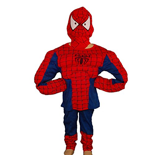 Dressy Daisy Boys' Halloween Spiderman Muscle Superhero Fancy Party Costume  Size 3T-4T ()
