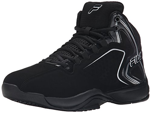 Fila Men's Big Bang 4-M, Black/Metallic Silver, 8 M US