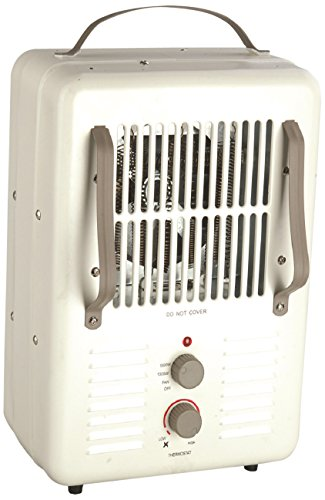 Comfort Glow EUH352 Milk house Style Utility Heater with Grounded Plug in 2-Tone Cream/Chocolate Finish, 1500-watt (Space Heater Utility compare prices)
