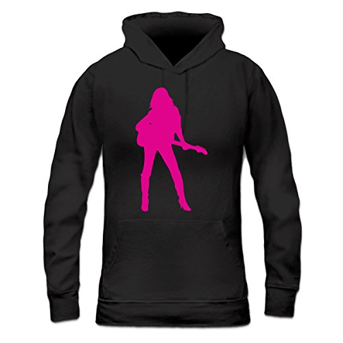 Sudadera con capucha de mujer Hot Female Guitarist by Shirtcity Negro