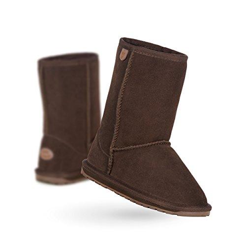 EMU Australia Wallaby Classic Lo Boot (Toddler/Little Kid/Big Kid),Chocolate,13 M US Little Kid (Emus Boots)