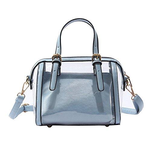Meaeo Transparent À Sauvage Messenger Nouveau Bleu Bandoulière Blue Sac Bag tfrxq0Iwt5