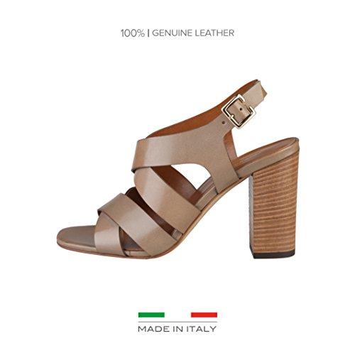 Loredana Femme Italia Tongs in pour Made Taupe ZUv4fqBwx