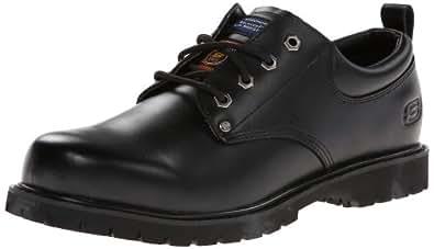 Skechers for Work Men's Cottonwood Fribble Slip Resistant Work Shoe,Black,7 M US