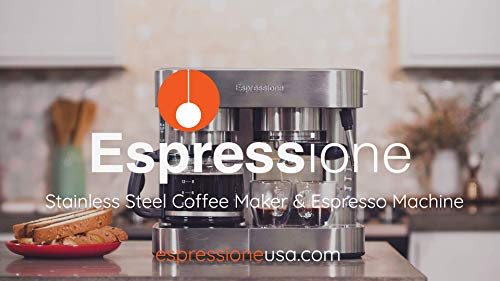 Espressione EM-1040 Stainless Steel Machine Espresso and Coffee Maker, 1.5 L