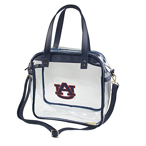 Auburn University Tigers Capri Designs Clearly Fashion Licensed Clear Carryall Tote Meets Stadium Requirements by CLEARLY FASHION