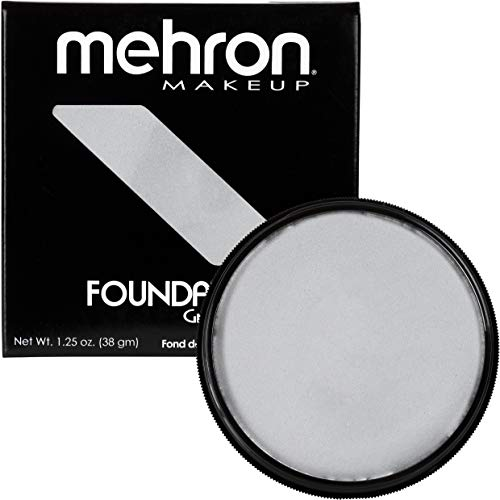 Mehron Makeup Foundation Greasepaint (1.25 oz) (SILVER) -