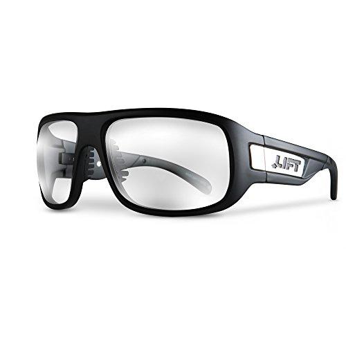 LIFT Safety BOLD One Size Safety Glasses (Matte Black Frame/Clear ()