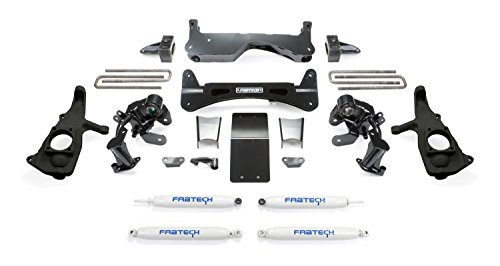 Fabtech K1046 Raised Torsion Suspension Lift System w/Performance Shocks 6 in. Lift Raised Torsion Suspension Lift System