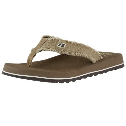 Skechers USA Men's Fray Cotton Thong,11 M US,Brown ()