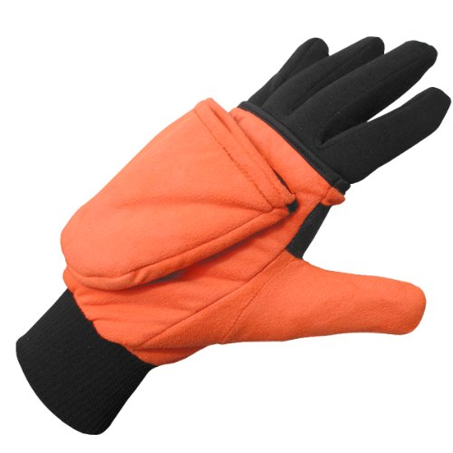 Heat Factory Gloves with Pop-Top Mittens, with Hand Heat Warmer Pockets, Blaze, X-Large