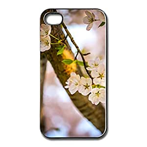 Let Cherry Blossoms Bloom 4s Case For Apple IPhone White or White or Black Best PV Style