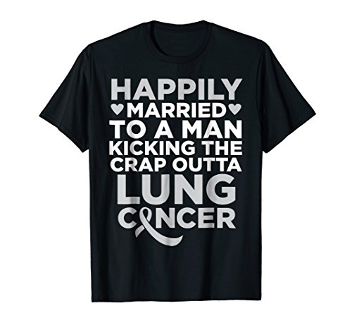 Husband Fighting Lung Cancer | Support T-Shirt for Wife -