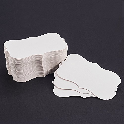 NBEADS 150PCS White Blank Paper Business Card Word Card Message Card DIY Gift Card Jewelry Display Paper Price Tags, 3.5 x1.97 inch by NBEADS
