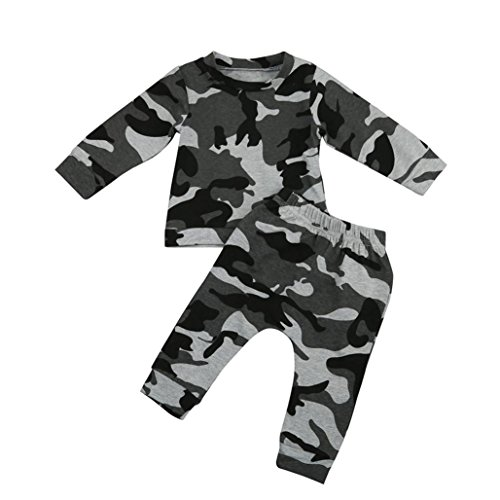 Baby Bo Christmas s Outfits Clothes Set, Camouflage T-Shirt Tops+Long Pants Set by WOCACHI Back to School Clearance Sale Black Friday Cyber Monday Deals -