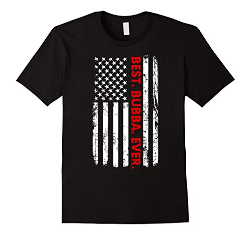 Mens Best Bubba Ever T-Shirt Funny Brother Gift with America Flag 3XL (Big Sister Little Sister Costume Ideas)