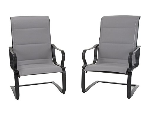 Cosco Outdoor Living 88401GLGE Smart Connect Motion Patio Chair, 2-Pack, Gray (Furniture Chairs Motion Patio)