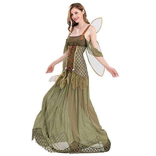 NFY Sexy Forest Elf Dress Lovely Halloween Womens Clothing Decor Suitable Carnival Masquerade Costume Party,L ()