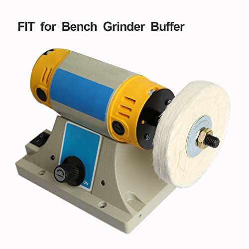 Polishing Wheel for Bench Grinder Buffing Wheel 6 inch White (60 Ply) & Yellow (42 Ply) for Buffer Polisher with 1/2 Inch Arbor Hole 2 PCS by StartFine (Image #5)