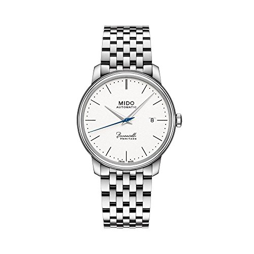 Mido Baroncelli III Automatic White Dial Mens Watch M0274071101000