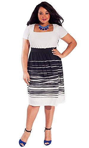 IGIGI Women's Plus Size Eleanor Dress in Bold Paintbrush 22/24