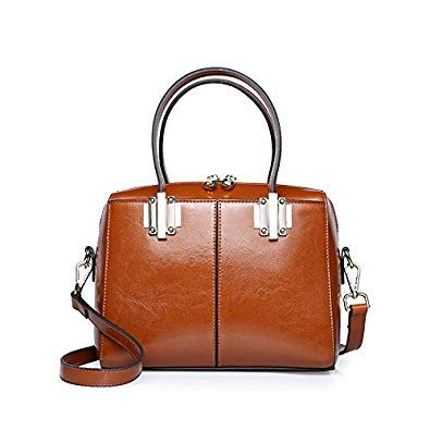 Bloomerang Ladies Leather Handbags Women Retro Genuine Leather Bags Totes Messenger Bags Hign Quality Designer Luxury Brand Bag color Brown