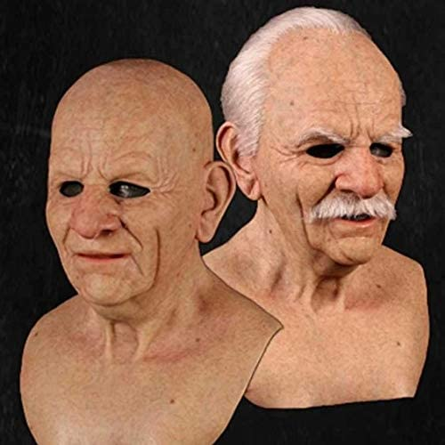 1Pc Hand-Made Using Strong Adhesive /& Durable Rivets Silicone Mask with See-Through Mesh Fabric Another me-The Elder Man 2 for Halloween Masquerade Party