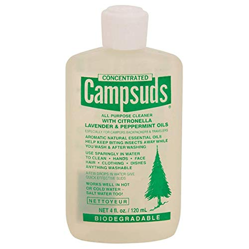 (Sierra Dawn Campsuds with Citronella, Lavender, Peppermint Oil Deters Insects, Insect Deterrent, Outdoor Soap Biodegradable Environmentally Safe All Purpose Cleaner, Camping Hiking Backpacking)