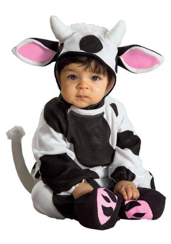 Rubie's Costume EZ-On Romper Costume, Cozy Cow, 6-12 -