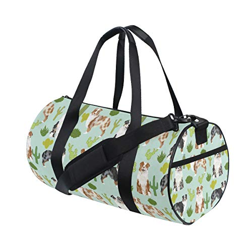 (Pet Dogs Cactus Duffle Gear Bag with Shoulder Strap | Sports Equipment Bag)