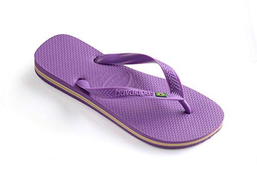 Havaianas Unisex Brasil Rubber Flip-Flops Purple Size EU 39/40 - Bra 37/38 - US M6 by Havaianas