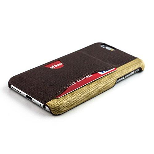Dockem Kartenhülle – iPhone 6s und 6-Rückseitenschutz – Minimalistische Brieftaschenhülle aus Kunstleder – extrem flache, professionelle Business-Hülle zum Aufstecken mit 1 Karteneinschub