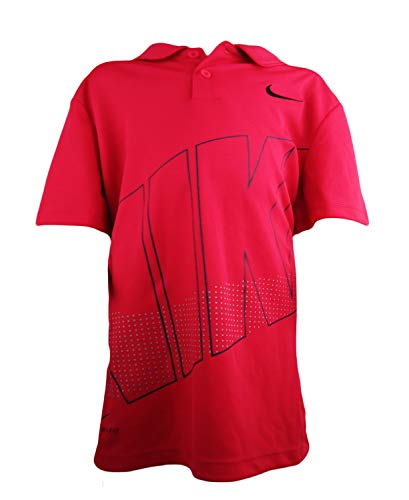 - Nike Active Graphics Boys' Jersey T-Shirt Top (S, Tropical Pink/Black)