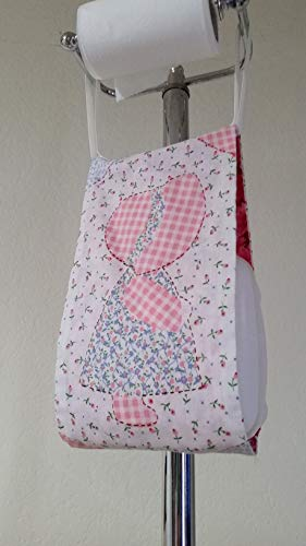 Sunbonnet Girl and Country Boy Print Fabric Spare Bathroom Tissue Holder -