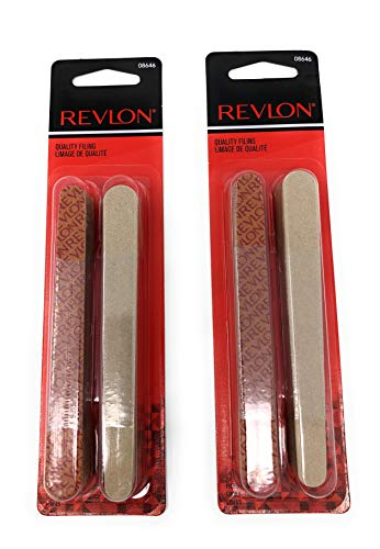 Revlon Nail Buffer - Revlon Beauty Tools Compact Emery Boards - 24 ct - 2 Pack